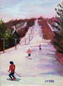 Billy's Girls by Sharon Allen oil plein air ~ 12 x 9