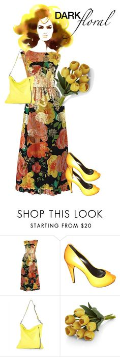 """""""Dark Florals"""" by stormi3 ❤ liked on Polyvore featuring Lovisa, Pierre Hardy, Jaeger, Crate and Barrel and darkflorals"""