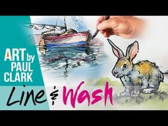 How to paint in Line & Wash - a beginner's guide - YouTube Pen And Wash, Urban Sketching, Drawing Board, Line, Watercolor, Make It Yourself, Drawings, Youtube, Pencil