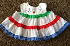 EUC VINTAGE BABY GIRL DRESS.  SIZE 6-9 MONTHS.  SO ADORABLE.
