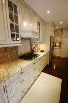 Love the lighting! Kitchen Renovations, Kitchen Cabinets, Lighting, Home Decor, Decoration Home, Light Fixtures, Room Decor, Updated Kitchen, Kitchen Base Cabinets