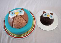 purple & black birthday cakes for 6 year | Cake Flair: Owl Cake