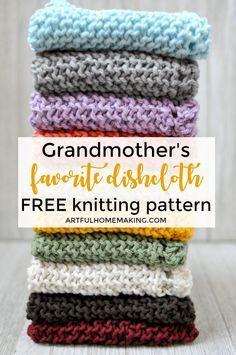 Grandmother's Favorite Dishcloth Free Knitting Pattern