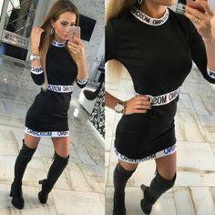 64bbfc78fc High Quality Summer Autumn Dresses 2017 Fashion Europe Women Sexy Casual  Long Sleeve Mini Dress Plus Size Office Dress Vestidos