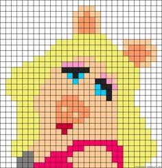 Miss Piggy perler bead pattern