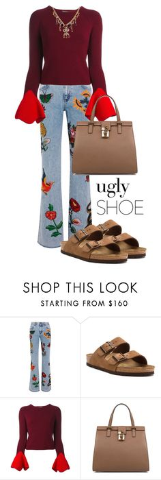 """""""'Ugly' Shoes"""" by sara12alexandra ❤ liked on Polyvore featuring Gucci, Birkenstock, Alexander McQueen and Dolce&Gabbana"""