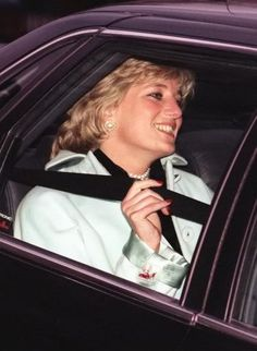 14 Dec 1995 Diana arrives at the staff Christmas party