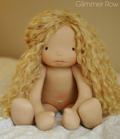 """18"""" natural, waldorf inspired, cloth doll by Glimmer Row"""