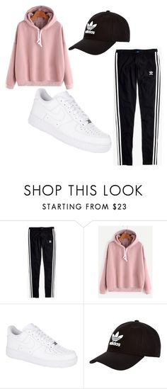 """""""Untitled #116"""" by zineb-chibane on Polyvore featuring Madewell, NIKE and adidas Originals"""