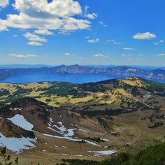 A 2.5-mile hike (gaining 1,250 ft.) brings you to the 8,929 ft. Mt. Scott summit, the only place in Crater Lake National Park where you can capture the entire #caldera in one point-and-shoot photo. Imagine another 5,000 feet of volcano for an idea of what Mt. Mazama looked like before the cataclysmic eruption 7,700 years ago!   Credit U.S. Dept. of Interior