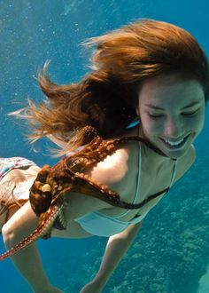 Octopus | ... WATERSPORTS » Girl Kissing Octopus (Tako) Bluewater Hawaii MauiH2O