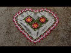 Passo a passo Tapete Coração em Crochê parte-2