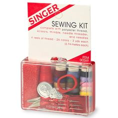 Singer Sewing Kit With Polyester Thread: This can save your clothes when you don't have time to get them professionally altered/repaired. Free Deals, Walgreens Photo, Sewing Kit, Detox Tea, Tee Design, Have Time, Shirts For Girls, Singer, Elite Socks