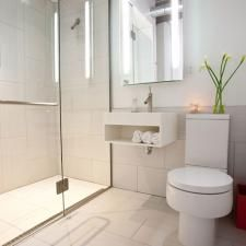 Get 18 Large White Bathroom Floor Tiles Ideas And Pictures, Cool Collection Large Tiles Small Bathroom Modern Small Bathrooms, Small Bathroom Tiles, Modern Bathroom Design, Simple Bathroom, Bathroom Flooring, Paint Bathroom, Shower Bathroom, Narrow Bathroom, Bathroom Designs