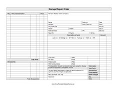 Repair Work Order Form Template | Free Printable Business Form ...