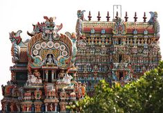 Meenakshi Amman Temple [in Madurai, Tamil Nadu, India] is resplendent in a blaze of colors. The city of Madurai in the South Eastern Indian state of Tamil Nadu is one of the oldest continually inhabited cities in the world and has been a functioning metropolis for over two thousand years.
