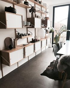 96 Awesome Models Wall Shelves for Living Room Ideas - Tips For Choosing It - Home Sweet Ikea Wall Shelves, Wall Mounted Shelves, Svalnäs Ikea, Living Room Decor Inspiration, Ikea Home, Loft Spaces, Deco Design, Interior Design Living Room, Home And Living
