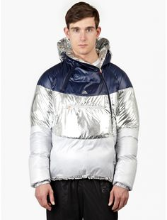adidas by kolor Navy and Silver Down-Filled Jacket | oki-ni
