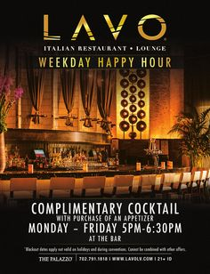 LAVO @ the palazzo dinner 5pm-12am brunch s/s 10am-4pm  kobe meatballs