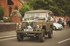 The wedding I have to show you today is a really lovely August wedding complete with typical British Wedding Car Decorations, Wedding Decor, Wedding Ideas, 1940s Party, Sheep Tattoo, Typical British, Bridal Car, Living In England, Military Wedding