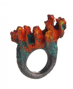 Ring by Enric Majoral - Oxydized silver and/or bronze. More at http://www.enricmajoral.com/