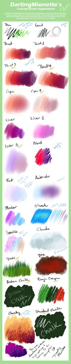 Custom Brush Supplement 2 by =DarlingMionette on deviantART