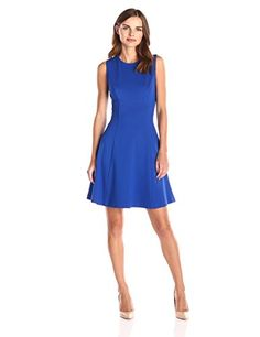 112e1701047a76 Lark  amp  Ro Women s Sleeveless Ponte Fit and Flare Dress http   stylexotic