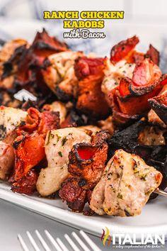 Kabob Recipes, Fun Easy Recipes, Grilling Recipes, Cooking Recipes, Smoker Recipes, Meat Recipes, Delicious Recipes, Dinner Recipes, Dessert Recipes