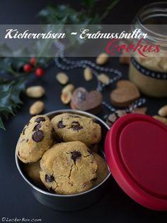 Kichererbsen-Erdnussbutter-Cookies *vegan *glutenfrei #lecker #leckerbox #cookies #vegan #glutenfrei #kichererbsen #erdnussbutter