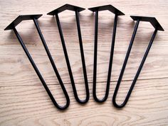 "4"" Hairpin Legs. 3/8"" Diameter Raw Steel EACH by ModarchSupply on Etsy"