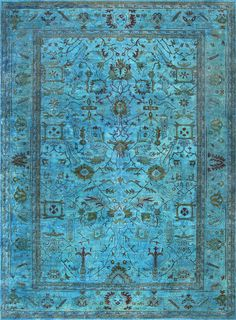 rugsville_overdyed_turquoise_rug_12229_2.jpg 850×1,155 pixels