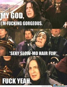 The Harry Potter books and films are a proverbial fountain of memes. I, myself, have wasted hours scrolling through endless pages of Harry Potter memes chuckling lightly all the while. So be more like me and waste some time looking at. Snape Meme, Harry Potter Severus Snape, Harry Harry, Hermione Granger, Draco Malfoy, Fans D'harry Potter, Xavier Rudd, Gellert Grindelwald, No Muggles