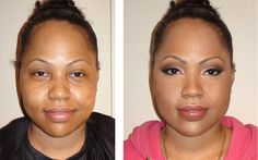 before and after makeup black women | Makeup Before And After Black Women Makeover on black women,