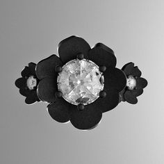 Nature Classic 14K Black Gold 1.0 Ct White by GormanDesigns