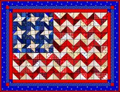 Quilted Things Gallery 6 Flag Quilt