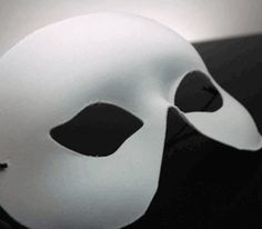 Adult Half Face Blank White Masks $2.50 each