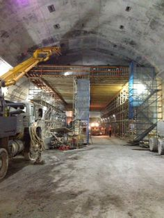 Conventional Smoke Duct, concrete borer, Kenny Constructions on Airport Link project.