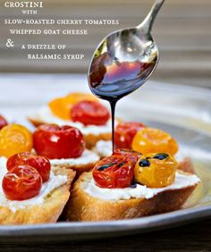 These crostini are TO DIE FOR. An easy, elegant & delicious appetizer recipe!