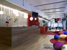 Google office Zürich - Reception with Herman Miiler bean bag chairs