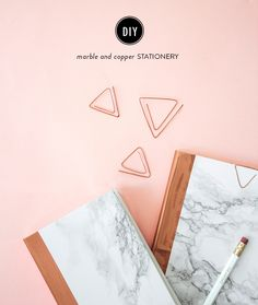 DIY Marble and Copper Stationery: Photography: The Lovely Drawer - thelovelydrawer.com/