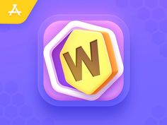 Word Puzzle - App iOS Icon by NestStrix Design for NestStrix Studio on Dribbble Game Logo Design, Ios Design, App Icon Design, Interface Design, User Interface, Arduino, Kit Games, Clean Web Design, Mobile Ui Patterns