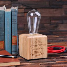 Set of 9 Edison Lamp Award™ – Personalized Awards, Plaques, Trophies, Trophy, Employee, Corporate Recognition