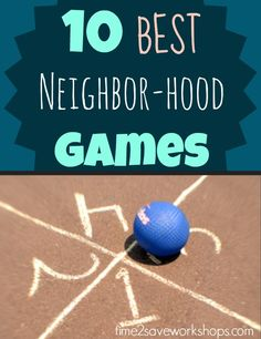 Top 10 Neighborhood Games to Teach Your Kids: 4 Square, Kick the Can, Capture the Flag, More! Block Party Games, Fun Party Games, Ideas Party, Kid Games, Group Games, Event Ideas, Outdoor Games For Kids, Backyard For Kids, Outdoor Ideas