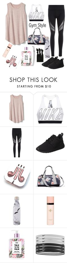 """""""Gym Style"""" by snuggle-styles ❤ liked on Polyvore featuring Gap, NIKE, PhunkeeTree, Vooray, West Elm, Yves Saint Laurent and Emi-Jay"""