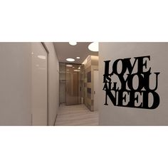 All You Need Wall Art Sticker Decal