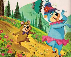 Hanna-Barbera's Yogi Bear by my vintage book collection (in blog form), via Flickr