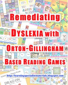 Learning Specialist and Teacher Materials - Good Sensory Learning: Remediating Dyslexia with Orton Gillingham Based Reading Games