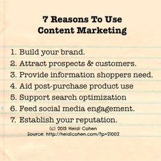 Create great content — Content Marketing vinder frem og vi synes at alle der kan, burde omfavne det som et aktivt markedsføringstiltag. Her er 7 gode grunde til at du burde bruge Content Marketing: