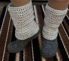 365 Crochet!: Legwarmer Slippers -free crochet pattern-
