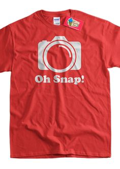 Funny Digital Film Camera Gifts for Photographers Photography T-Shirt - Oh Snap Tee Shirt T Shirt Geek Mens Ladies Womens Youth Kids
